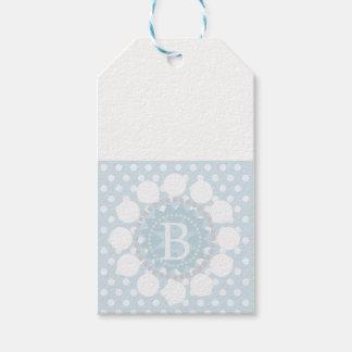 Customisable Monogram Polka Dot/Circles Gift Tag
