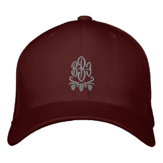 Customisable Monogram Wine Embroidered Hat