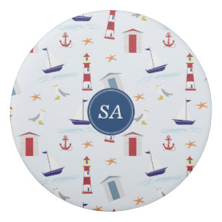 Customisable Monogrammed Nautical Back to School Eraser