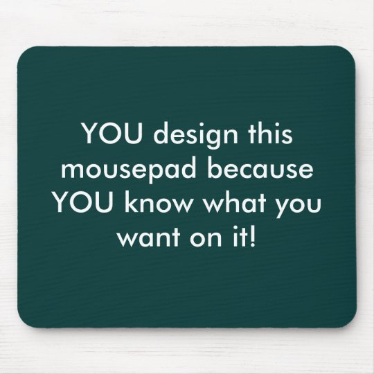 Customisable mousepad