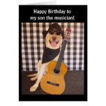 Customisable Musician Son Birthday Greeting Card