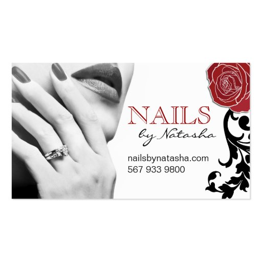 Create your own manicurist business cards page3 customisable nail technician business cards reheart Gallery