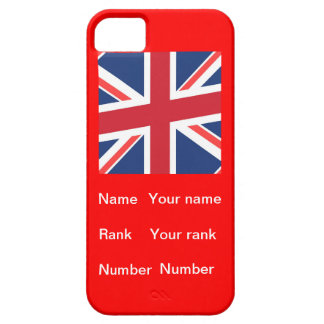 Customisable name Rank and number iPhone 5 Covers