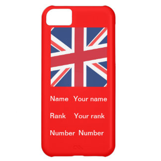 Customisable name Rank and number iPhone 5C Covers