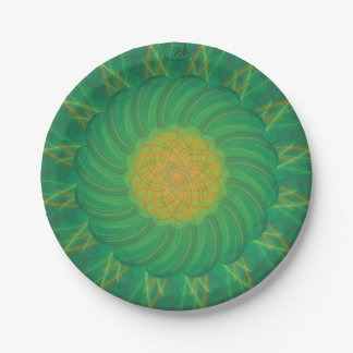 Customisable Nature (Psychedelic spirograph) Paper Plate