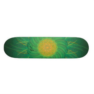 Customisable Nature (Psychedelic spirograph) Skateboard Deck