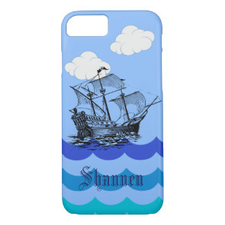 Customisable Nautical Pirate Ship iPhone Case