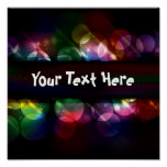 Customisable neon circle light effect background poster