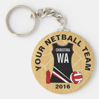 Customisable Netball Key Ring