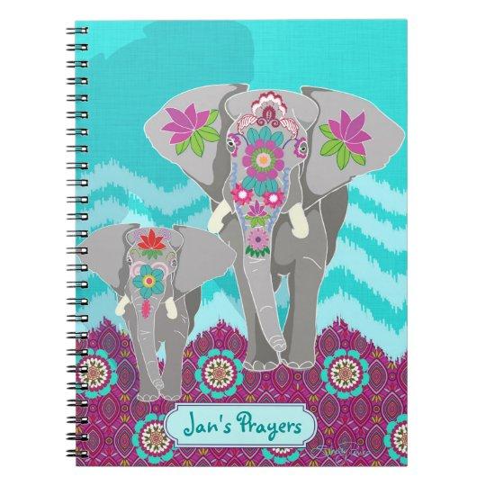 Customisable Notebook - Elephant Festival