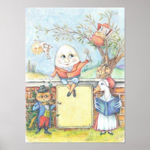 Customisable Nursery Rhyme poster