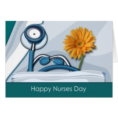 Happy national nurses week stitched fabric heart card zazzle m4hsunfo Image collections