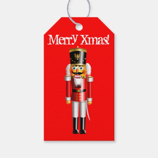 Customisable Nutcracker Toy-Soldier Gift Tags