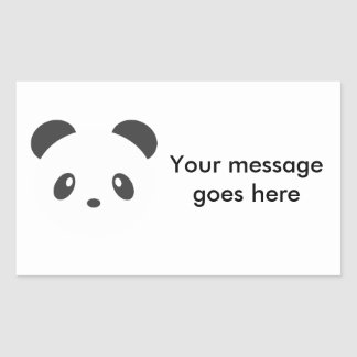 Customisable panda stickers