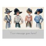 Customisable Paris Fashions 1910 Postcard