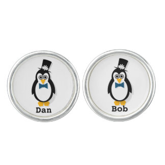 Customisable Penguin Wedding Cufflinks