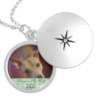 Customisable Pet Memorial Photo Keepsake Round Locket Necklace