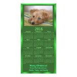 Customisable Photo Card 2016 Calendar Green Xmas