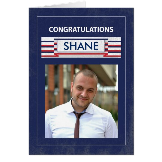 Customisable Photo, Name Fire Fighter Graduate Con Card