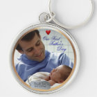 Customisable Photo Our First Fathers Day Key Chain