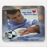 Customisable Photo Our First Fathers Day Mousepad
