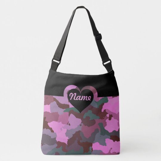 Customisable Pink Camo for Large Crossbody Bag
