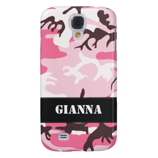Customisable Pink Camo Galaxy S4 Case