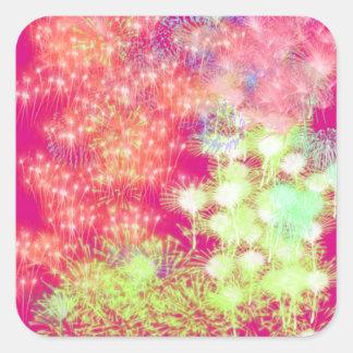 Customisable Pink Fireworks Sticker