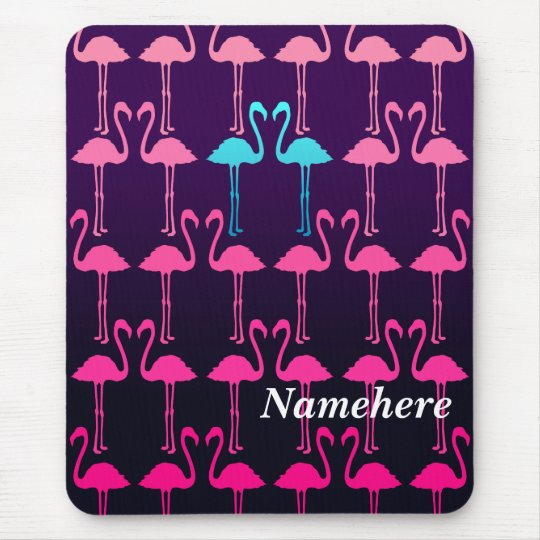 Customisable: Pink flamingo Mouse Mat