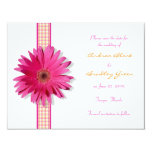 Customisable Pink Gerbera Daisy Save the Date Card Invite