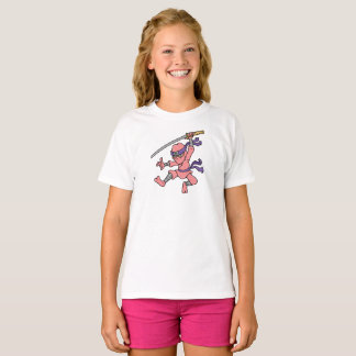 Customisable Pink Jumping Ninja T-Shirt