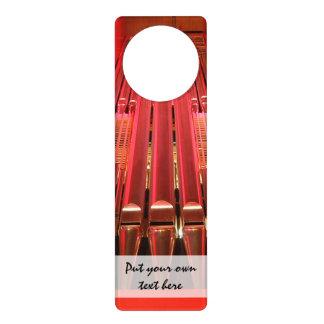 Customisable pink organ pipes door hanger