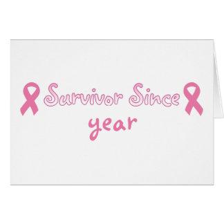 Customisable Pink Ribbon Card