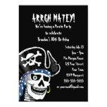 Customisable Pirate Party 13 Cm X 18 Cm Invitation Card