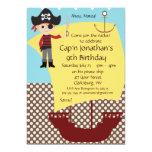 Customisable Pirate Ship Birthday Party Invitation