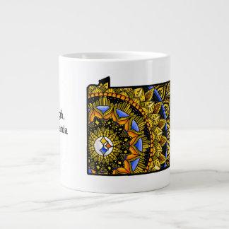 Customisable Pittsburgh PA Colourful Jumbo Mug