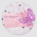 Customisable Pretty Pink Butterfly Design