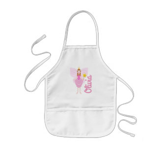 Customisable Pretty Pink Fairy Kids Apron