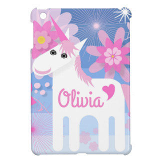 Customisable Pretty Pink Unicorn iPad Cover