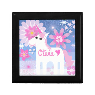 Customisable Pretty Pink Unicorn Jewellery Box