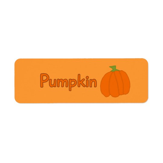 Customisable Pumpkin Bakery Labels