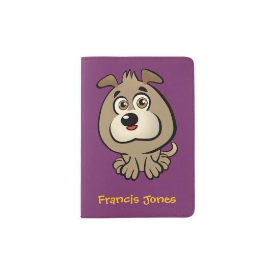 Customisable Puppy Cartoon Passport Holder