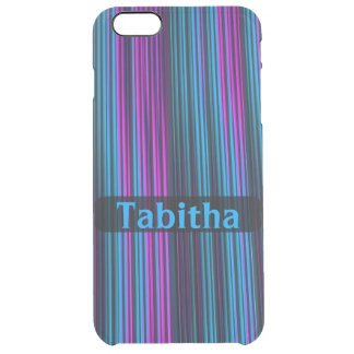 Customisable Purple and Blue Streaks Clear iPhone 6 Plus Case