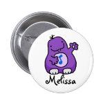 Customisable Purple Fuzzy Wuzzy Badge