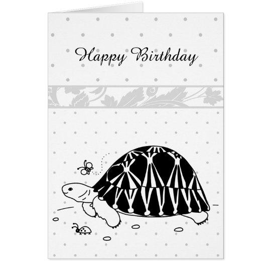 Customisable Radiated Tortoise Card