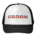 Customisable Rainbow Bride and Groom Tees, Gifts Cap