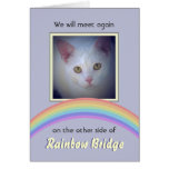 Customisable Rainbow Bridge Pet Memorial Greeting Card