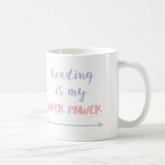 Customisable Reading is my Super Power Coffee Mug