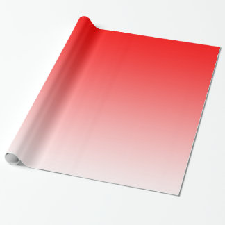 Customisable Red Fade Wrapping Paper
