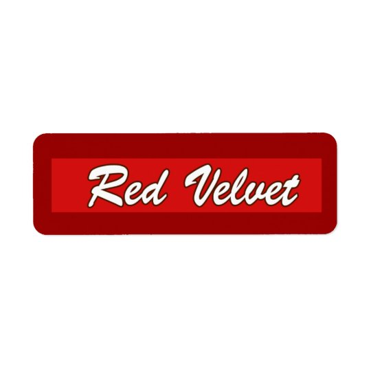 Customisable Red Velvet Bakery Labels